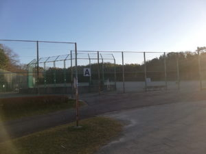 テニスコート付近